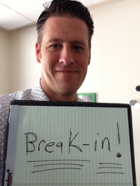 In networking you have to break-in!